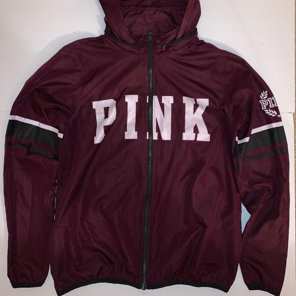 PINK Victoria's Secret Jackets & Blazers - VS PINK'S MAROON WINDBREAKER
